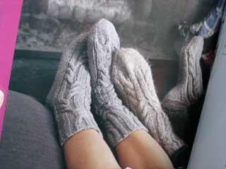 Log Cabin Socks